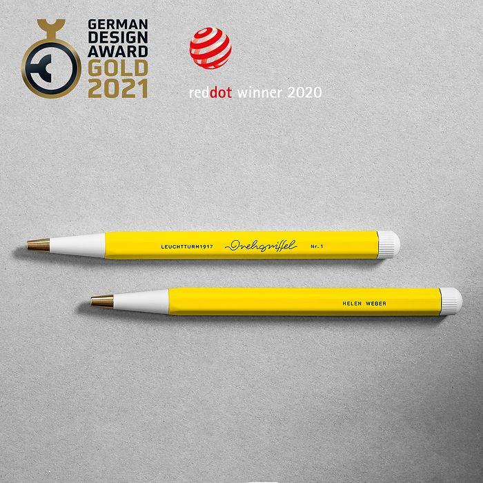 Drehgriffel Nr. 1, Bleu Nordique - Stylo à bille avec encre bleue