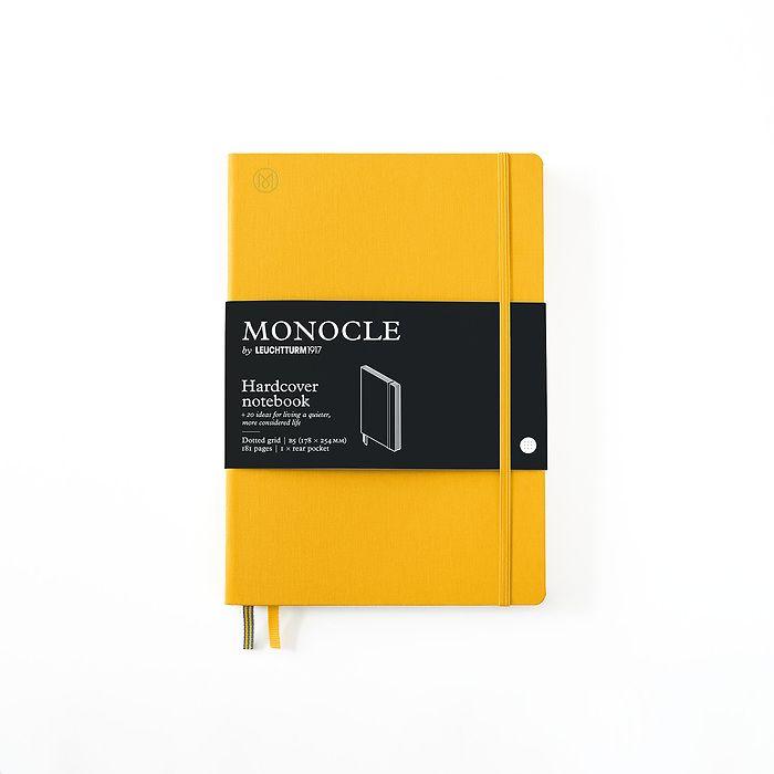 Carnet de notes B5 Monocle, Couverture rigide, 192 pages numérotées, Yellow, pointillé