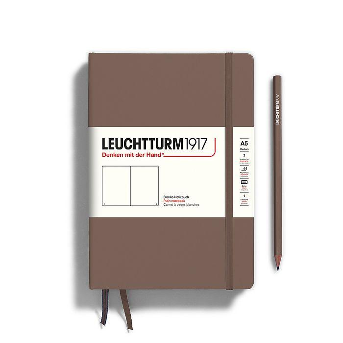 Carnet de notes Medium (A5), Couverture rigide, 251 pages num., Warm Earth, blanc
