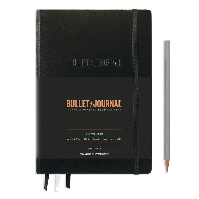 Bullet Journal Edition 2, Medium (A5), Couverture rigide, 206 pages num., Noir, pointillé