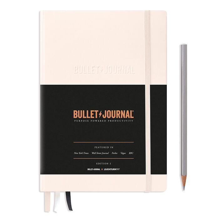 Bullet Journal Edition 2, Medium (A5), Couverture rigide, 206 pages num., Blush, pointillé