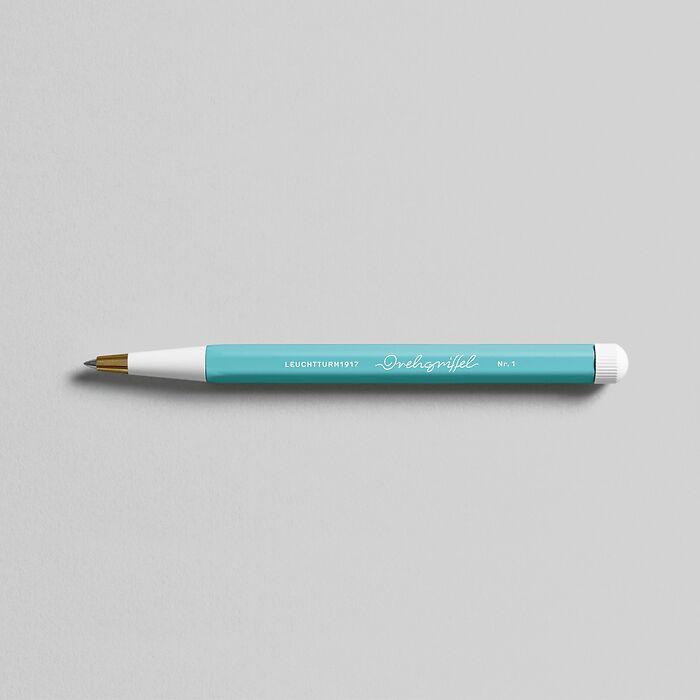 Drehgriffel Nr. 1, Aquamarine - Stylo gel avec encre noire