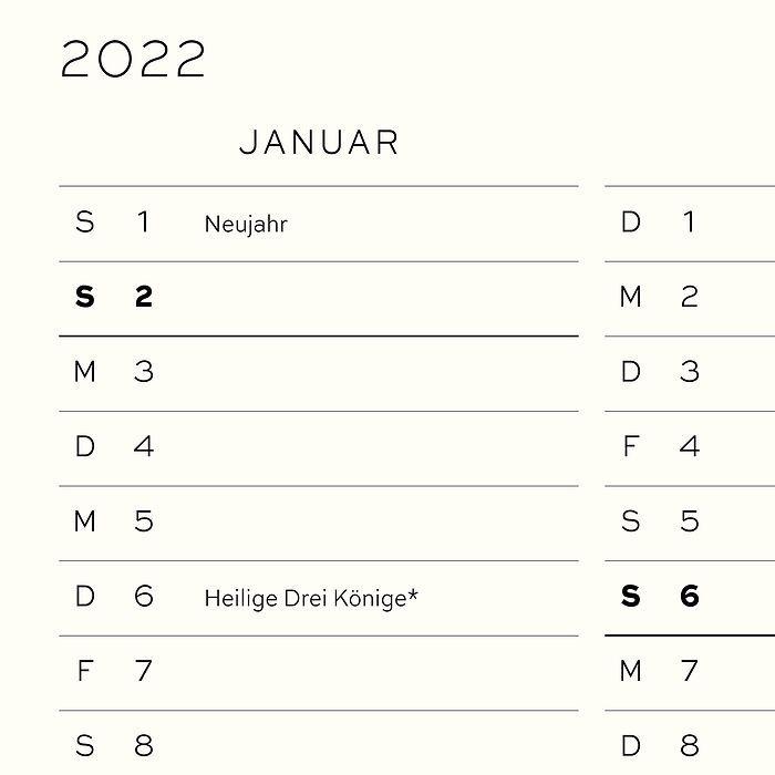 Agenda Semainier & Carnet de notes 18 mois, Allemand